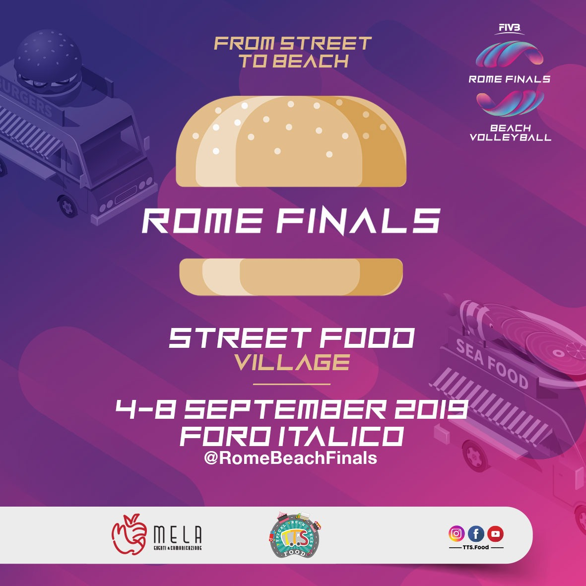 TTSfood al Foro Italico per il Rome Finals Beach Volleyball
